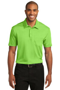 12 Custom Logo Port Authority K540P Dri Fit SIlk Touch Pocket Polo Shirt $18 $216.00