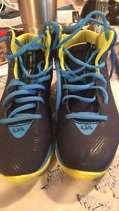 Under Armour Basketball shoes for youth size 6.5Y BLUE