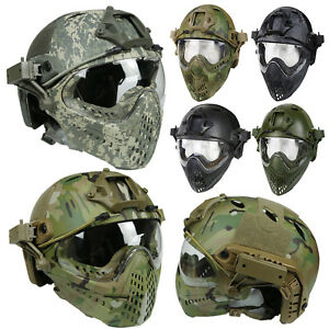 Military Tactical Protective Fast Helmet Airsoft Paintball with Mask