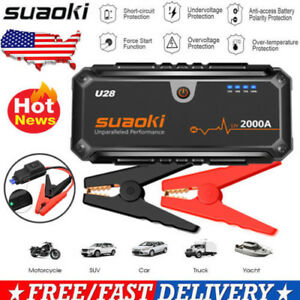 Suaoki 2000A Car Jump Starter Booster Portable Battery Charger Power Bank USB US
