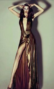 GUCCI TOM FORD RUNWAY Keira Knightley Gold Halter Gown Dress  IT4244  Stunning!