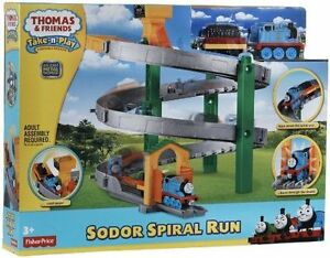Thomas and Friends Take N Play Soder  Play set Spiral Train Track NEW Boys