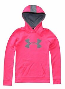 NWT Under Armour Youth Girls Big Logo Hoodie Sz XL