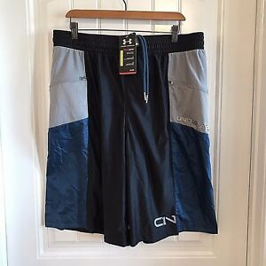Under Armour Size XL Shorts Workout UA C1N HeatGear Loose Fit Spellout Mens