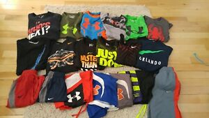 Boy's Under Armour Nike HUGE Lot Small Pants Shorts Shirts Athletic
