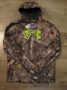 New Mens Under Armour ColdGear infrared camo Hoodie 1248010 M LXL2XL3XL