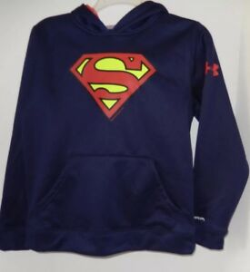 Under Armour Boys Superman Hoodie Storm Youth Medium
