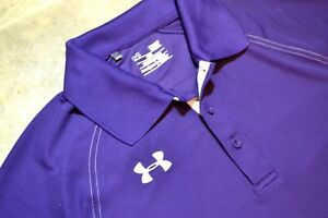 Under Armour (Men's Sz S Small) Dry Fit Shirt SS PURPLE Polo