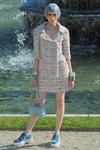 CHANEL 13C Pink LESAGE Tweed SUIT Jacket Size 3644 Skirt 36 GORGEOUS!!!