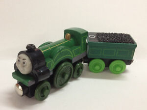 2pcs Thomas & Friends Emily and Tender Set Magnetic Wooden Toy NEW Train