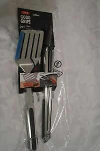 2-Piece  Stainless Steel BBQ Grilling Tool Set