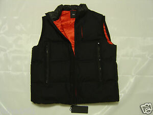 $850 UNDER ARMOUR Cold Gear Goose Down Vest Puffer Jacket _ LG Black Label ITALY