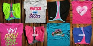 GIRLS 6 SUMMER CLOTHING ~ TEMPO RUNNING SHORTS ~ T-SHIRTS ~ NEW ~ $172 Retail