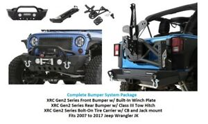 Jeep Front & Rear Bumper Tire Carrier System for 07-17 Jeep JK XRC Gen2 Series