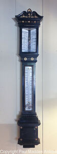 Antique Ornate Stick Barometer by J.H. Steward