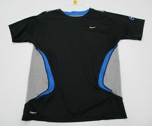 NIKE #T7000 Youth Boys Size XL FIT-DRY ACTIVE SPORTS Short Sleeve Black Shirt