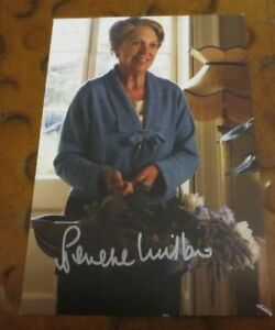 Penelope Wilton actress signed autographed photo PBS show Downton Abbey