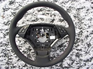 BMW E60 E61 07-10 NEW LEATHER HEATED STEERING WHEELTHUMB RESTSM STYLE STITCH