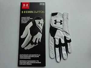 Under Armour Men's CoolSwitch Golf Glove Left Hand WhiteBlack NWT