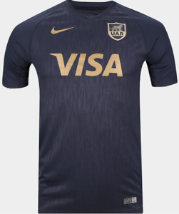 Nike Dri Fit Los Pumas Rugby Gold Limited Speed Print Jersey shirt men Argentina