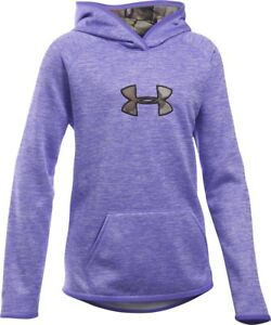 Under Armour Storm purple lavender camo logo hoodie NWT UPICK sz L XL girls'