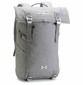 New Men's UA Under Armour SC30 Signature Rolltop Backpack - 1300225-013 - Grey