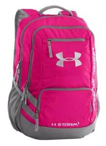 Under Armour UA Hustle 2 Storm1 Tropic Pink Gray Backpack Bag