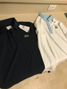 Brand new mens dry fit medium lacoste collar shirts