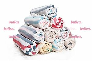 SET OF 5 - Turkish Towel Peshtemal Fouta Beach Towel Cotton-Bamboo Hammam Towel