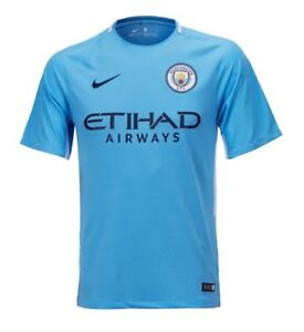Nike 1718 Manchester City Home 3RD SS Shirts Blue Soccer Jersey 847261-489