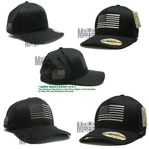Flexfit Brushed American Flag Tactical Operator Cap Hat Military Army Marines $16.99