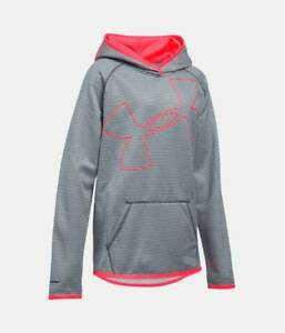 Under Armour Storm hoodie sweatshirt NWT UPICK M L XL girls' patterned graypink