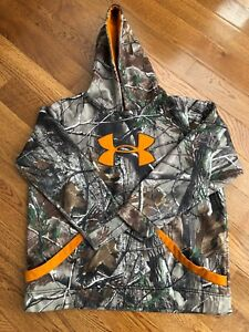 Boys Under Armour Camo Realtree Xtra Hoodie Sweatshirt Youth XL Extra Large