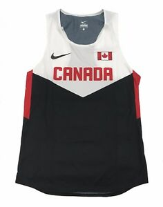 Nike Men's Team Canada Mesh Swift Singlet Running Track And Field Shirt. Red. XL