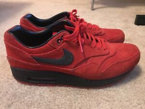 Nike Air Max 1 Pimento  Raging Bulls Red Suede