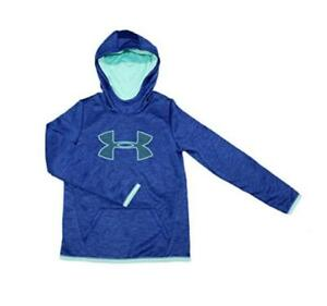 New Girls Youth Under Armour Navy Athletic Storm Fleece Lined Hoodie XL