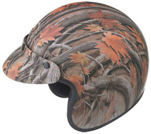 GMAX GM2 Open-Face Motorcycle Helmet (Leaf Camouflage) Choose Size
