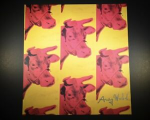 """Andy Warhol """"Cow"""" (Multiple Images).  Hand signed by Andy Warhol.  With COA."""