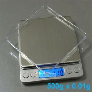 500gx0.01g Food Electronic Weighing Scale Digital Measuring Gram Accurate w Tray $14.99
