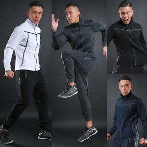 Mens Top Shirt Fitness Boy Hoodie Casual Quick Dry Tee Sweats Sport