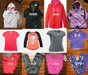 UNDER ARMOUR GIRLS LARGE ~ WINTER ~ HOODIES ~ LEGGINGS ~ TOPS ` $500 Retail 12pc