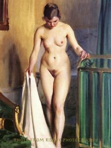 Nude Woman in Bedroom 8.5x11 Photo Print Naked Female Anders Zorn Painting Art $8.27