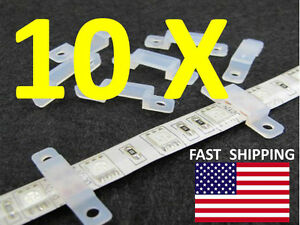 10pcs. CLIP ------- Silicon clip for mounting track 3528, 5050, 5630 LED RGB 60