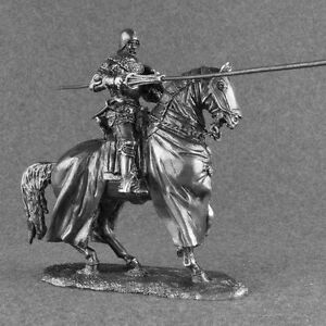 Toy Soldiers Medieval 1/32 Knight with Lancer Polish Horse Rider Cavalry 54mm