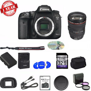 Canon EOS 7D Mark II DSLR W 24-105MM USM LENS + 32GB MC SUPREME KIT