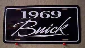 1969 Buick license plate tag 69 Wildcat Riviera Skylark GS Electra 225 Special $19.69