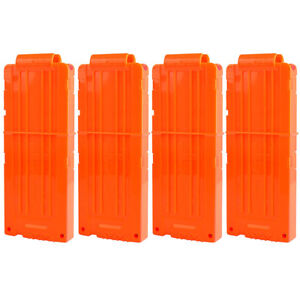 4pcs 12 Reload Foam Darts Clip MAG Bullet Magazine Replacement for Nerf Blasters