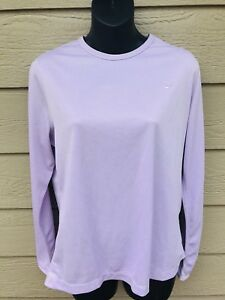 NIKE Dri Fit Active Athletic Shirt Womens L(12-14) Lavender Long Sleeve Top New*