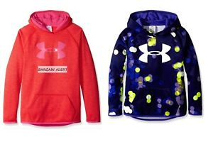 UNDER ARMOUR GIRLS HOODIE SWEATSHIRTS ~ SIZE SMALL X 2 ~ ORANGE PURPLE ~ $100