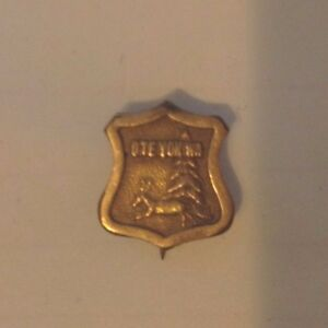 Estate Vintage OTE YOK WA Gold toned pin Binghamton New York